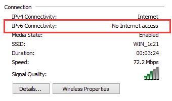 IPv6 No Internet access