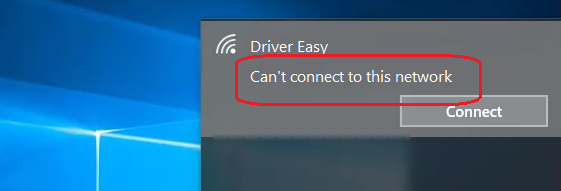 Repareren Cant Connect To This Network On Windows 10