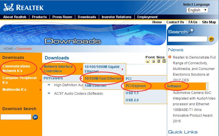 Realtek ethernet controller download windows 10   Realtek PCIe