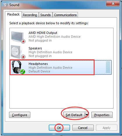audiogerät für windows 7
