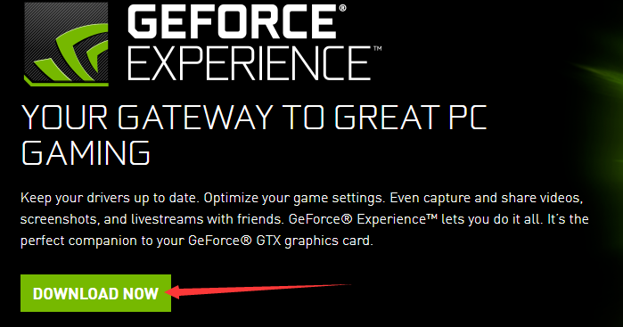 geforce experience wont download drivers