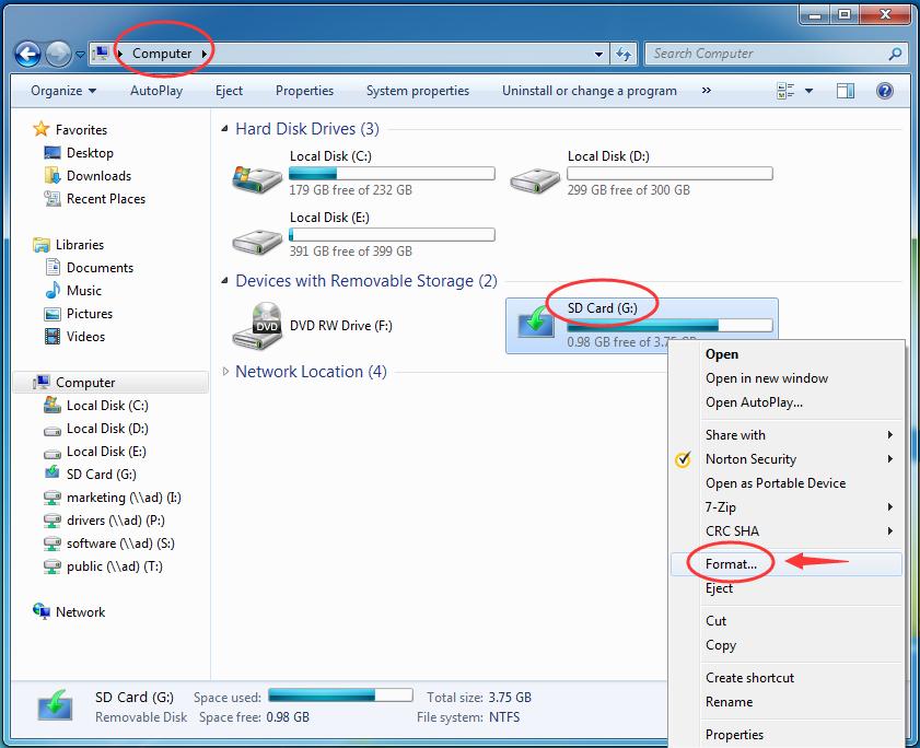 Comment formater la carte SD sous Windows 10/8/7 / XP ...