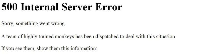 Youtube 500 Erreur Interne du Serveur