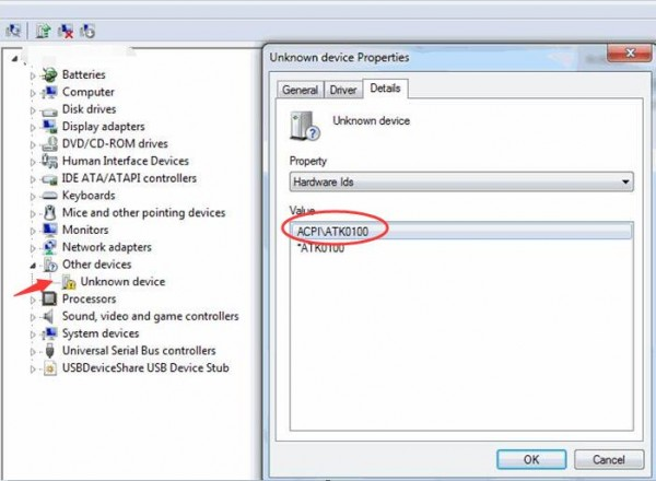 Driver for Asus P52F ATK ACPI