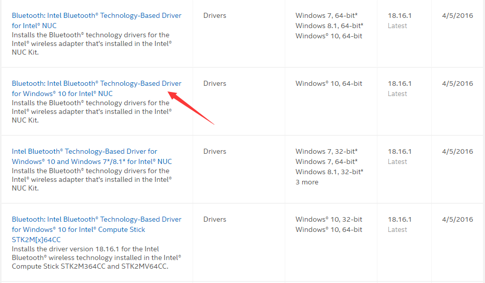 install bluetooth driver windows 10 intel