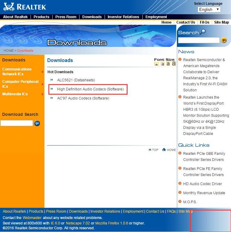 realtek download windows 7 64 bit