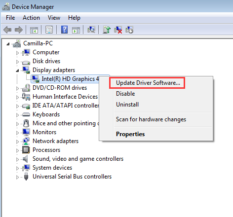 intel hd graphics 4600 drivers
