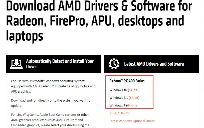 amd high-definition (hd) graphics driver windows 8 64 bit