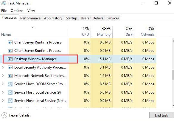 dwm exe error windows 7 fix