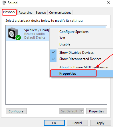 how to change sound left and right sound on windows