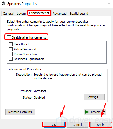 no enhancements tab windows 10