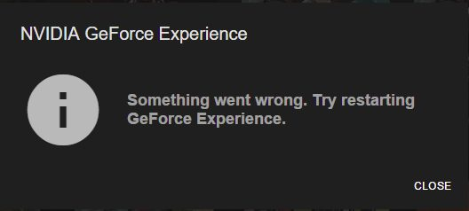 nvidia geforce experience not working windows 8.1