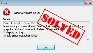 aggiornamento scheda video direct3d